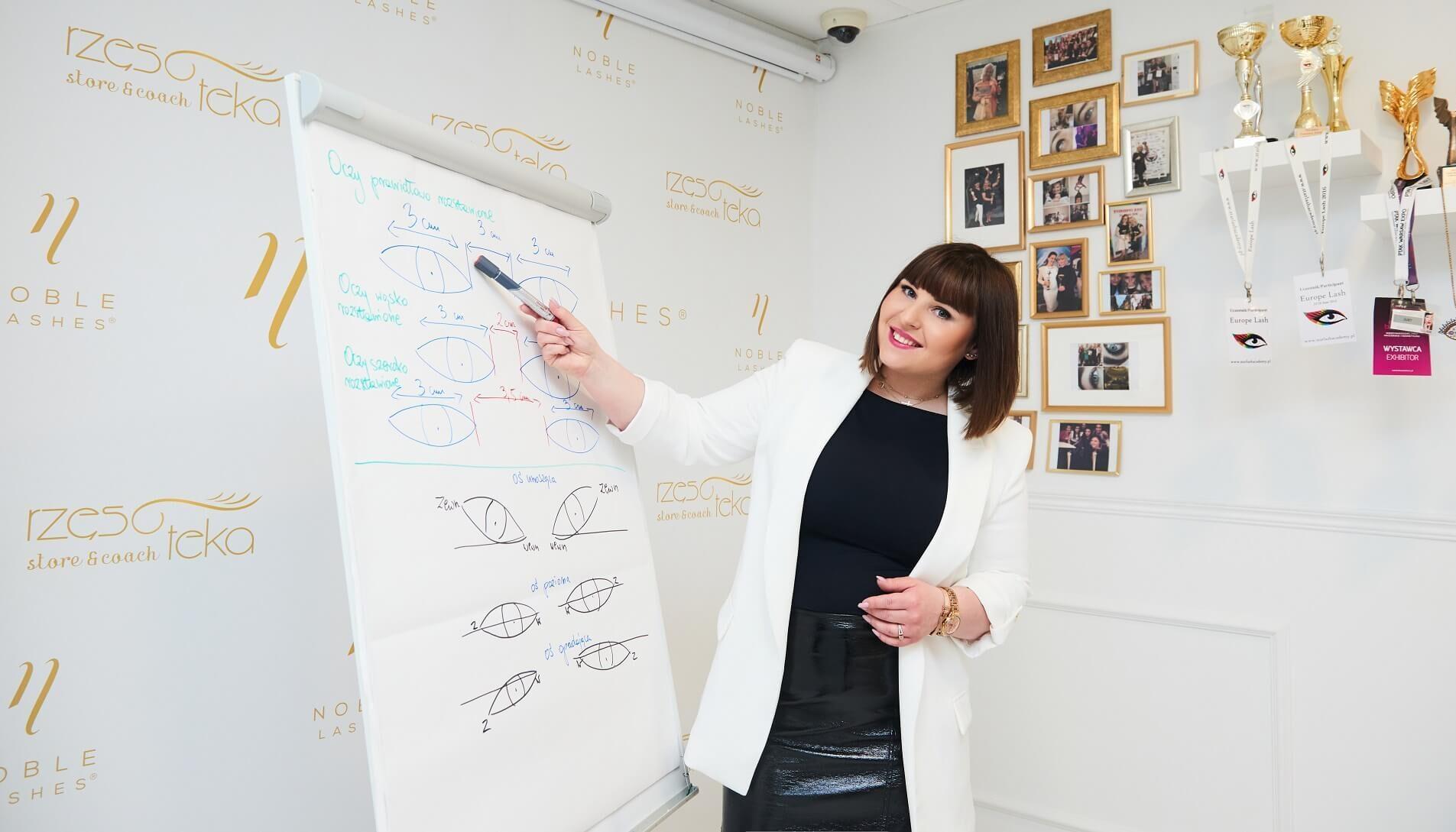 Szkolenie ze stylizacji i przedłuzania rzęs prowadzi Agnieszka Murdzek
